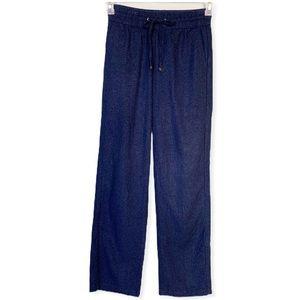 Mittoshop Navy Linen Blend Drawstring Pants